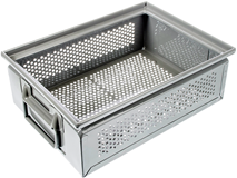 Storage Chest, Flat, 125 mm Low, Perforated